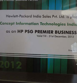 HP PSG Premier Business Partner 2012