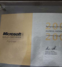 Microsoft Gold Certified Partner 2007 2008
