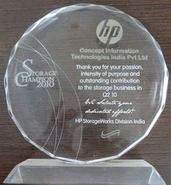 HP Storage Champion 2010